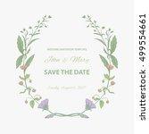 wedding invitation template.... | Shutterstock .eps vector #499554661