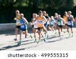 runners in marathon abstract ... | Shutterstock . vector #499555315