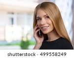 portrait of smiling business... | Shutterstock . vector #499558249