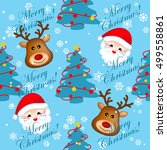seamless background with santa  ... | Shutterstock .eps vector #499558861