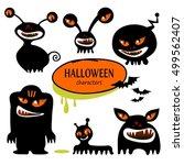 set of halloween characters.... | Shutterstock .eps vector #499562407