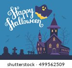 vector halloween illustration... | Shutterstock .eps vector #499562509