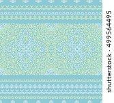 vector ethnic pattern in style... | Shutterstock .eps vector #499564495