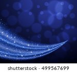 vector blue glitter wave... | Shutterstock .eps vector #499567699