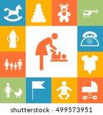 child care modern vector icons... | Shutterstock .eps vector #499573951