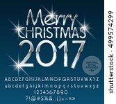 vector silver sparkle merry... | Shutterstock .eps vector #499574299