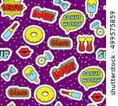 fashion patch badges seamless...   Shutterstock .eps vector #499575859