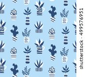 vector seamless pattern with... | Shutterstock .eps vector #499576951