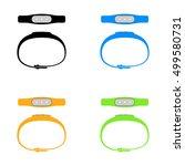 fitness tracker. sports... | Shutterstock .eps vector #499580731