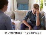teenage boy with problem... | Shutterstock . vector #499584187