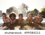 portrait of children having fun ... | Shutterstock . vector #499584211