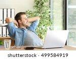 side view of an entrepreneur...   Shutterstock . vector #499584919