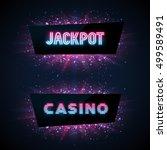 jackpot advertisement template. ... | Shutterstock .eps vector #499589491