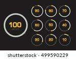 circle chart  graph. flat... | Shutterstock .eps vector #499590229