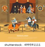 Medieval Joust Vector...