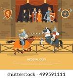 medieval joust vector... | Shutterstock .eps vector #499591111
