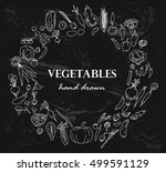 collection of the vegetables... | Shutterstock .eps vector #499591129