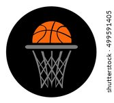 basketball  vector  | Shutterstock .eps vector #499591405