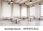 corner of restaurant with...   Shutterstock . vector #499591561