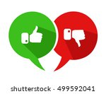 modern thumbs up and thumbs... | Shutterstock .eps vector #499592041
