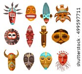 flat set of colorful african... | Shutterstock .eps vector #499597711