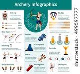 archery flat infographics... | Shutterstock .eps vector #499597777