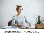 portrait of a young attractive...   Shutterstock . vector #499599217
