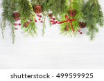 white wooden background with... | Shutterstock . vector #499599925