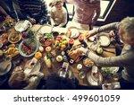 thanksgiving celebration... | Shutterstock . vector #499601059