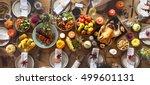 thanksgiving celebration... | Shutterstock . vector #499601131