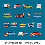 carsharing icons set with... | Shutterstock .eps vector #499601959