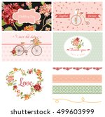 scrapbook design elements  ... | Shutterstock .eps vector #499603999