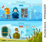 summer and winter fishing...   Shutterstock .eps vector #499606309