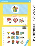 icon set valentines day vector   Shutterstock .eps vector #499607809