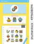 icon set dessert vector | Shutterstock .eps vector #499608094