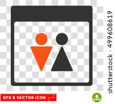 vector wc persons calendar page ... | Shutterstock .eps vector #499608619