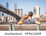 Couple In Love Sitting On A...