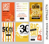 social media sale banners  and...   Shutterstock .eps vector #499612774