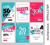 social media sale banners and... | Shutterstock .eps vector #499612789