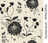 rose sakura garden hydrangea... | Shutterstock .eps vector #499619941