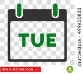 vector tuesday calendar page...   Shutterstock .eps vector #499620811
