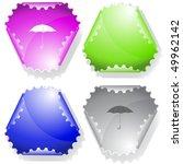 umbrella. vector sticker. | Shutterstock .eps vector #49962142