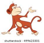 illustration of a cute monkey.... | Shutterstock . vector #499623301