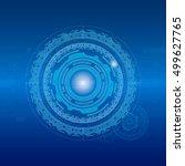 digital technology concept.... | Shutterstock .eps vector #499627765