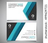blue modern creative business... | Shutterstock .eps vector #499629721