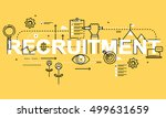 word recruitment  line flat... | Shutterstock .eps vector #499631659