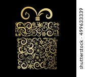 stylized gift box   vector... | Shutterstock .eps vector #499633339