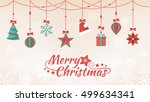 hand crafted paper christmas... | Shutterstock .eps vector #499634341