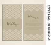 decorative design for a wedding ... | Shutterstock .eps vector #499635319