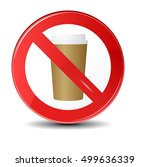 prohibition sign icon.no drink... | Shutterstock .eps vector #499636339